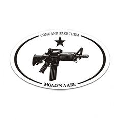 WE/'RE FULL Decal Funny Conservative USA MAGA America AR15 Patriot 2A Molon Labe