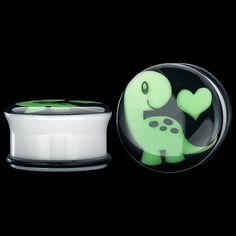 Sold as Pairs Inspiration Dezigns Glow in The Dark Romantic Roses Single Flared Plugs