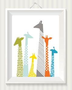 Giraffe Nursery Digital Print by simpdesigned on Etsy