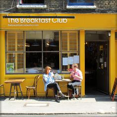 i go to the breakfast club in soho for a sausage sandwich
