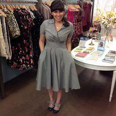 The darling Odessa got herself a Lucy dress! ADORABLE! An Audrey k original design.