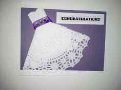 Congrats Wedding Gown on purple Wedding Gowns, Congratulations, Greeting Cards, Purple, Art, Homecoming Dresses Straps, Art Background, Bridal Gowns, Bride Dresses