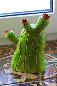 Handmade ceramic vase Cactus