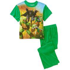 Teenage Mutant Ninja Turtle Boys' 2 Piece Front and Back Pajama Set