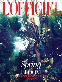 Spring In Bloom: Fernanda Ly by Joel Low for L'Officiel Singapore April 2016 - Louis Vuitton Spring 2016