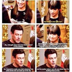 Can't believe these were Finn's last words to Rachel on glee!!! Its kind of crazy!!