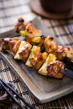 Yakitori, Japanese grilled chicken skewers