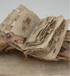 Susan Kapuscinski Gaylord, via Flickr Looks like handmade paper....JTR
