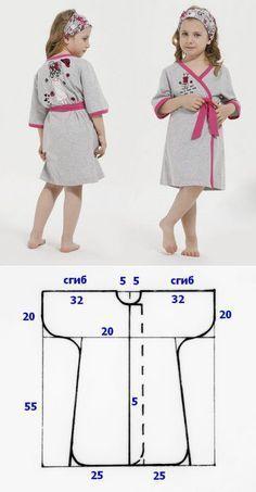 Выкройка махрового халатика для девочки | Fusion of Styles...<3 Deniz <3