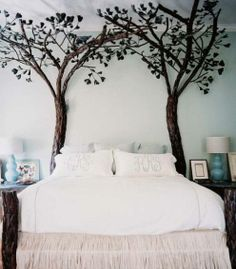 kids bedroom decorating ideas for girls with nature atmosphere