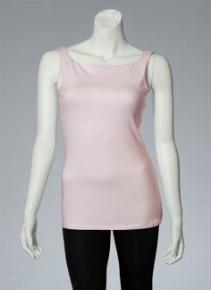 You customize it! This build: Wide straps, high neck, bum-length, pink tank top. #style #basics