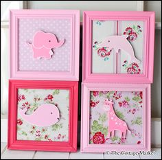 Love these...so simple & pretty ~ DIY Wall Art by Andrea - The Cottage Market