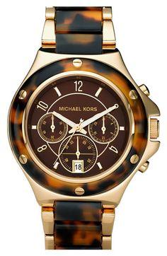 Michael Kors 'Rock Top' Two Tone Bracelet Watch