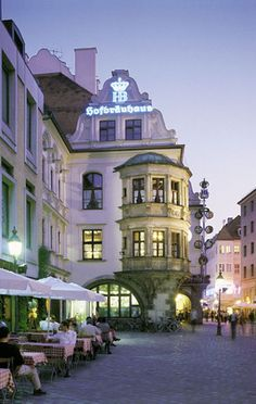 Hofbräuhaus--The epicenter of Munich's beer history and culture Germany...Spring 2000 with Em and Sara