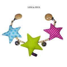 """★ Kinderwagenkette ★""""Sterne""""★ von ❧ *LENI & ZEUS* ❧ auf DaWanda.com"""