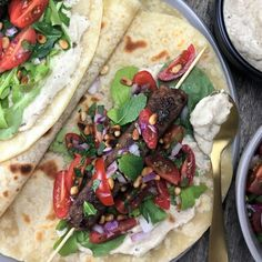 Lamb Kofta Wraps with Eggplant Yoghurt - Chef not Required