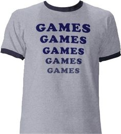 Commemorate your favorite cult classic with an awesome Amusement Park Games Games Games Light Blue T-shirt . Free shipping on Adventureland orders over $50.