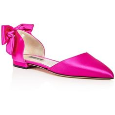 Sjp by Sarah Jessica Parker Awaken Satin d'Orsay Pointed Toe Flats -... (460 AUD) ❤ liked on Polyvore featuring shoes, flats, candy pink, satin flats, pink d orsay flats, sjp shoes, pointed toe flat shoes and satin shoes
