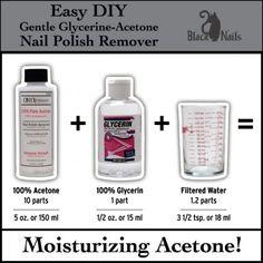 Easy DIY Gentle Glycerin Acetone Nail Polish Remover