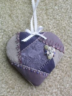 Misty Frederick-Ritz, Contemporary Artist: More Embellished Crazy Quilt Hearts