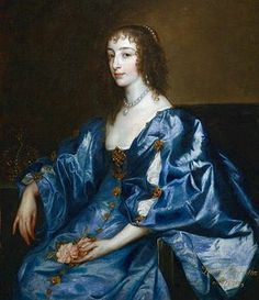Henrietta Maria of France, Queen of Charles I. By Anton VanDyck, circa 1636.