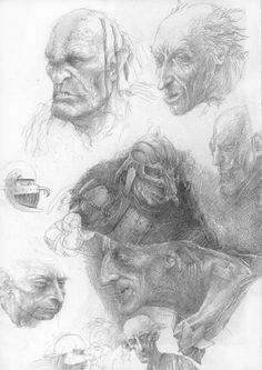 Orc, concept art by Alan Lee
