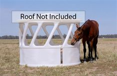 Poly Feeders & Drinkers :: Round Bale Feeder - Large (roof not included) - Equine Fencing - Best Horse Fence Horse Fencing, Horse Barns, Round Bale Feeder, Hay Feeder, Farm Plans, Small Barns, Farm Projects, Dream Barn, Horse Training