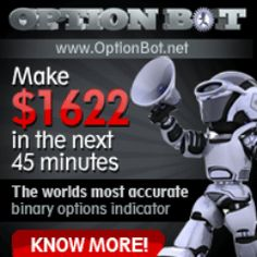 I've got an exclusive 7 day free trial offer for the much awaited 2.0 update of Option Bot.   Unless you've been living under a rock for the last 8 months, OptionBot 1.0 was launched on   October 8th 2012 and it was the worlds first binary options indicator for currency pairs.The   software made a huge impact, and there were success stories from users that had traded as little   as $10 in to over $12,000 in just 1 week. http://affiliateshop1.blogspot.com/