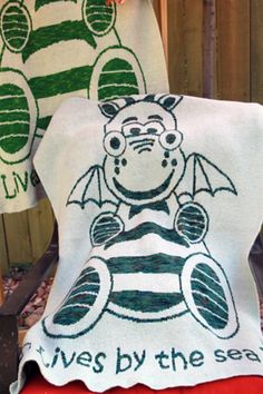 Knitted Magic Dragon Lap Throw- Shipping Included