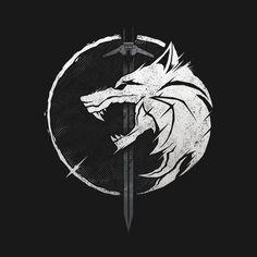 Wolf Wallpaper, Dark Wallpaper, The Witcher Wallpapers, Witcher Tattoo, Ichigo Y Rukia, Sword Tattoo, Wolf Artwork, Witcher Art, Norse Tattoo