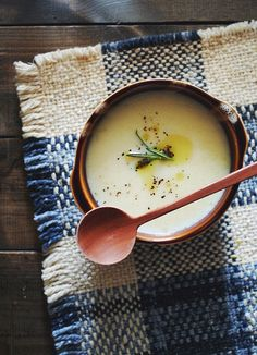 {Potato soup.}