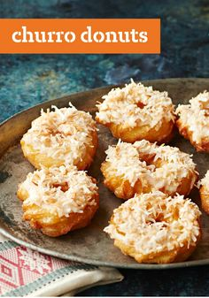 Churro Donuts — Learn how to make scrumptious, coconut-kissed Churro Donuts at home with your deep fryer. You may never buy store-bought donuts again!