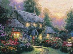 Julianne's Cottage ~ Thomas Kinkade