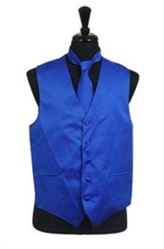 wedding attire for groom Mens Vest Tie Set Royal Blue for more deatils visit our site.