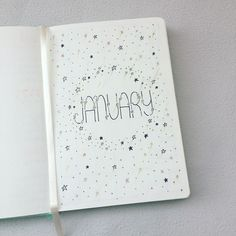2018 Bullet Journal: January Spread (Stars Theme)