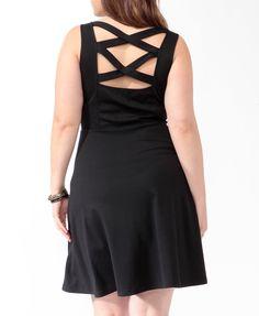 Crossback Fit & Flare Dress (Black). Forever 21. $19.80