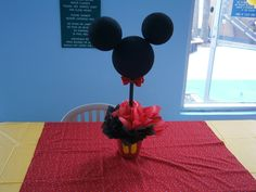 minnie and mickey party using old pasta jars etc