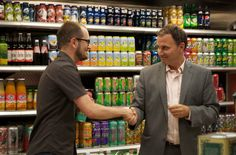 Darcy Higgins Executive Director of Food Forward with Councillor Josh Colle at Foodie Drinks Eglinton-Lawrence Edition, at Zito's Marketplace. Josh spoke eloquently about Food Forward and the food justice & sustainability needs and opportunities in the ward.