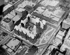 Aerial view of Toronto City Hall, 1951. - Courtesy of Canada Science and Technology Museums Corporation. ID# X-35878