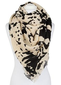 Cow Print Scarf by Pia Rossini