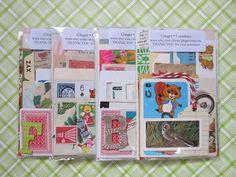 Paper Emphemera Kit / Vintage Scrap Paper Pack / Idea Kit / ACEO supply kit. 4.00, via Etsy shop GingerCreations -