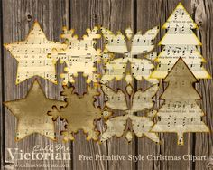 free-primitive-style-christmas-clipart  Typography alphabet printable image  diy paper crafts