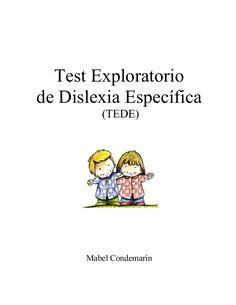 test exploratorio para diagnosticas dislexia