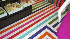 colorful floors / painted floors / kate spade