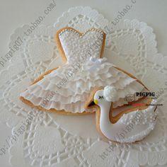 2pcs Swan Lake dress wedding cookie cutters baking tools Biscuit ...