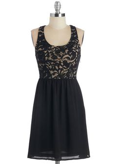 Care to Prance? Dress. You can barely contain your excitement at tonights dance class, as you spin and dip in this black party dress. #gold #prom #modcloth