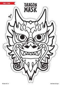 Chinese New Year Dragon Mask hashtags Chinese New Year Crafts For Kids, Chinese New Year Dragon, Chinese New Year Activities, Chinese Crafts, Chinese New Year 2020, Dragon Tatto, Dragon Mask, Mask Paper, Chinese Mask