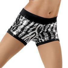 zebra sequined spandex shorts. AMAZING