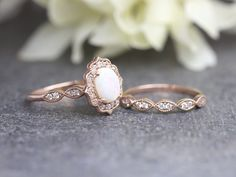Engagement Ring On Hand, Engagement Ring Settings, Opal Jewelry, Opal Earrings, Jewellery, Gothic Jewelry, Antique Jewelry, Bridal Sets, Diamond Wedding Rings