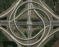 Freeway interchange of and in Jacksonville, Florida : oddlysatisfying Winding Road, Birds Eye View, Urban Planning, Aerial Photography, Photography Photos, Aerial View, Belle Photo, Landscape Architecture, Cool Photos